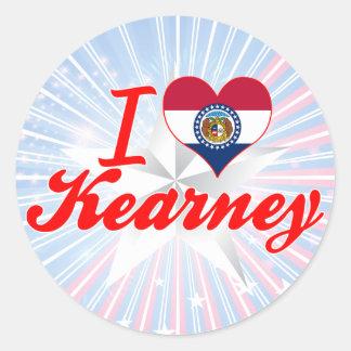 Amo Kearney, Missouri Etiqueta Redonda