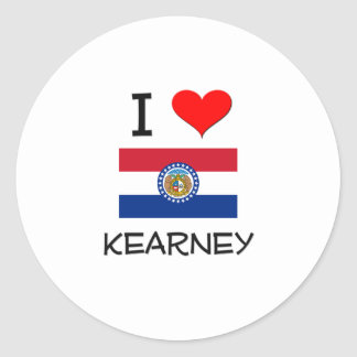 Amo Kearney Missouri Etiquetas Redondas