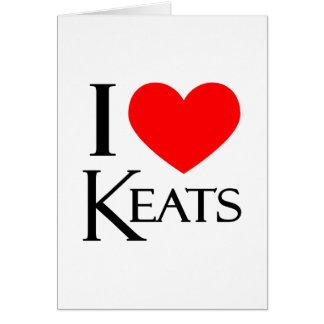 Amo Keats Felicitación