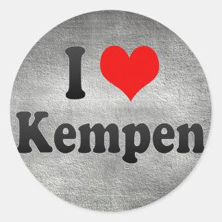 Amo Kempen, Alemania. Ich Liebe Kempen, Alemania Pegatina Redonda