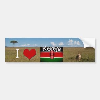 Amo Kenia Pegatina Para Auto