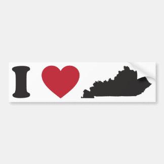 Amo Kentucky Etiqueta De Parachoque