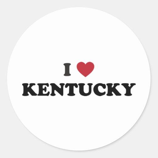 Amo Kentucky Pegatina Redonda