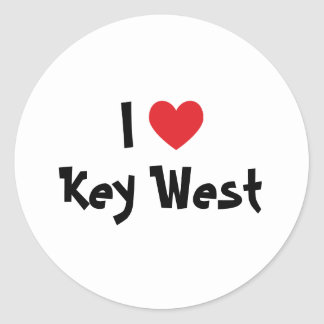 Amo Key West la Florida Pegatina Redonda