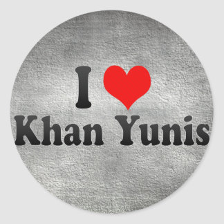 Amo Khan Yunis, territorio palestino Pegatina Redonda