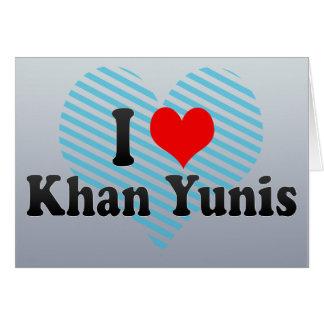 Amo Khan Yunis, territorio palestino Tarjeta De Felicitación