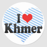 Amo Khmer Etiquetas Redondas