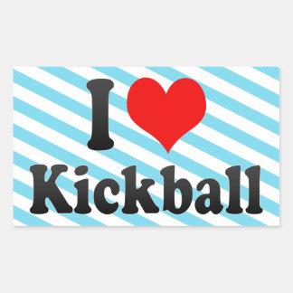 Amo Kickball Rectangular Pegatinas