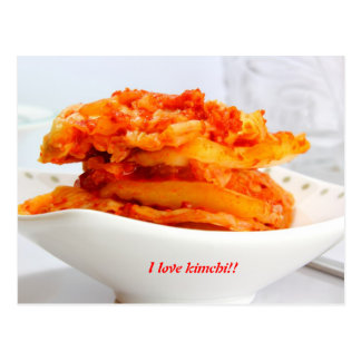 amo kimchi tarjeta postal