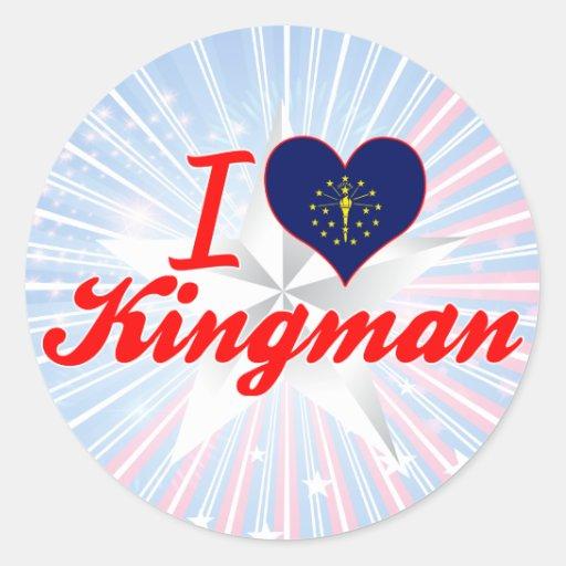 Amo Kingman, Indiana Etiquetas Redondas