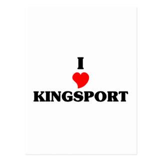 Amo Kingsport Tarjeta Postal