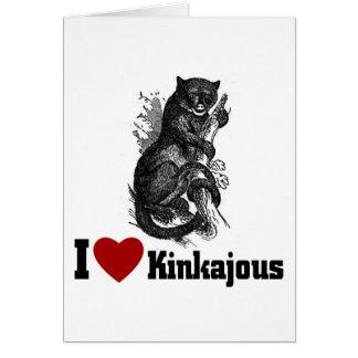 Amo Kinkajous Tarjeta De Felicitación