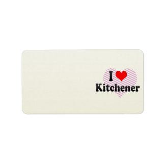 Amo Kitchener, Canadá Etiqueta De Dirección