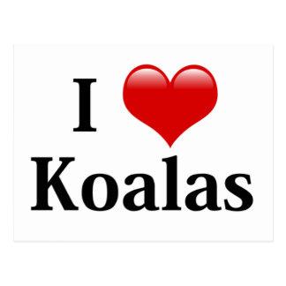Amo koalas postales