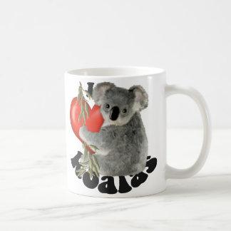 Amo koalas taza básica blanca