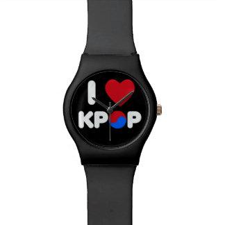 AMO KPOP (el negro) Relojes De Mano