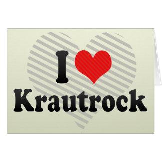 Amo Krautrock Tarjeta De Felicitación