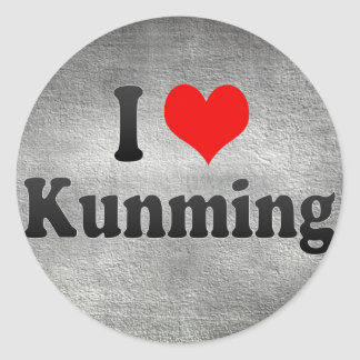 Amo Kunming, China. Wo Ai Kunming, China Pegatinas Redondas