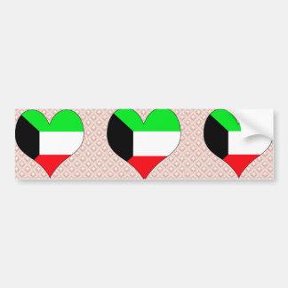 Amo Kuwait Pegatina De Parachoque