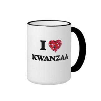 Amo Kwanzaa Taza A Dos Colores