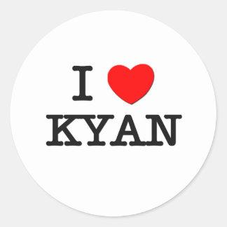 Amo Kyan Pegatinas Redondas