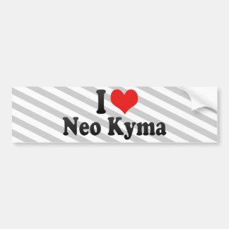 Amo Kyma neo Pegatina De Parachoque