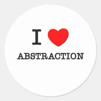 Amo la abstracción pegatina redonda