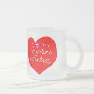 Amo la abuela y al abuelo tazas de café