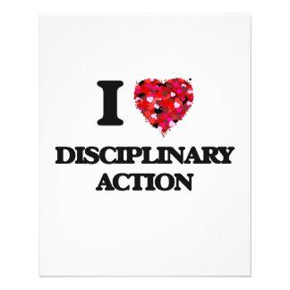 """Amo la acción disciplinaria folleto 4.5"""" x 5.6"""""""