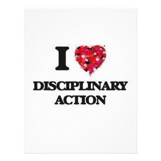 """Amo la acción disciplinaria folleto 8.5"""" x 11"""""""