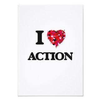 """Amo la acción invitación 5"""" x 7"""""""