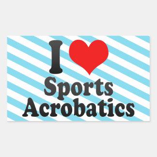 Amo la acrobacia de los deportes etiquetas