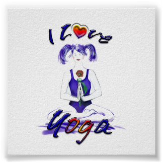 Amo la actitud de Yoga-Lotus Posters