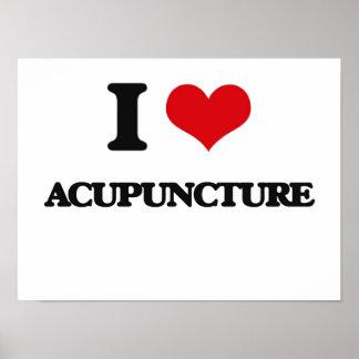 Amo la acupuntura impresiones