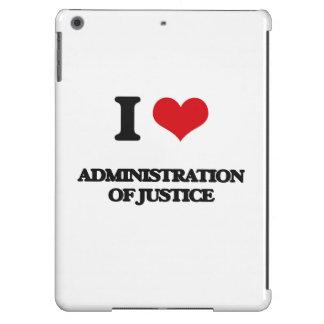Amo la administración de la justicia funda para iPad air