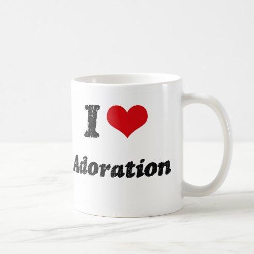 Amo la adoración taza de café