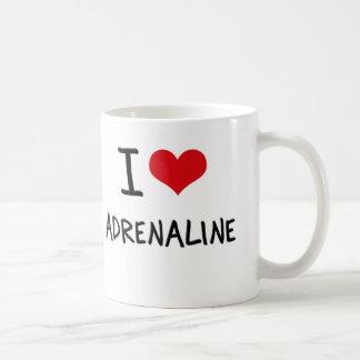Amo la adrenalina taza de café