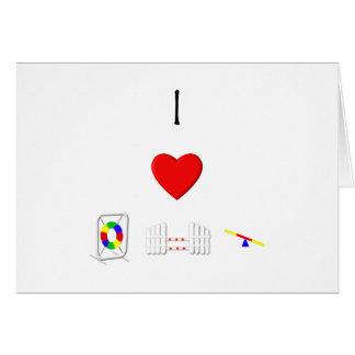Amo la agilidad (el equipo) tarjeta pequeña
