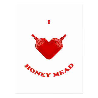 Amo la aguamiel de la miel tarjeta postal