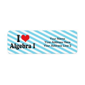 Amo la álgebra I Etiqueta De Remite