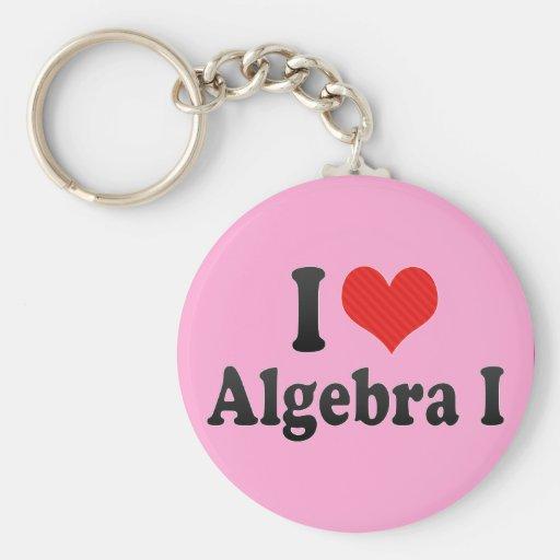 Amo la álgebra I Llaveros Personalizados