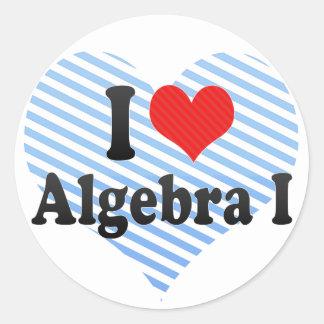 Amo la álgebra I Pegatina Redonda