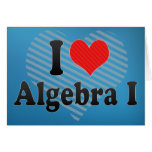 Amo la álgebra I Tarjeta