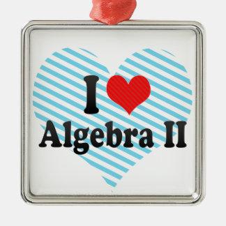 Amo la álgebra II Adorno Navideño Cuadrado De Metal