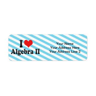 Amo la álgebra II Etiqueta De Remite