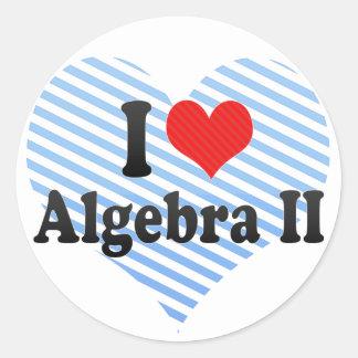 Amo la álgebra II Pegatina Redonda