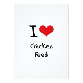 Amo la alimentación de pollo anuncios
