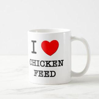 Amo la alimentación de pollo taza de café