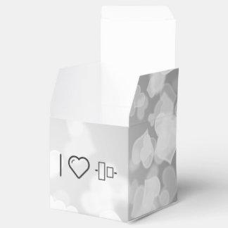 Amo la alineación del objeto caja para regalo de boda