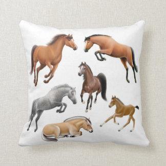 Amo la almohada de los caballos cojín decorativo